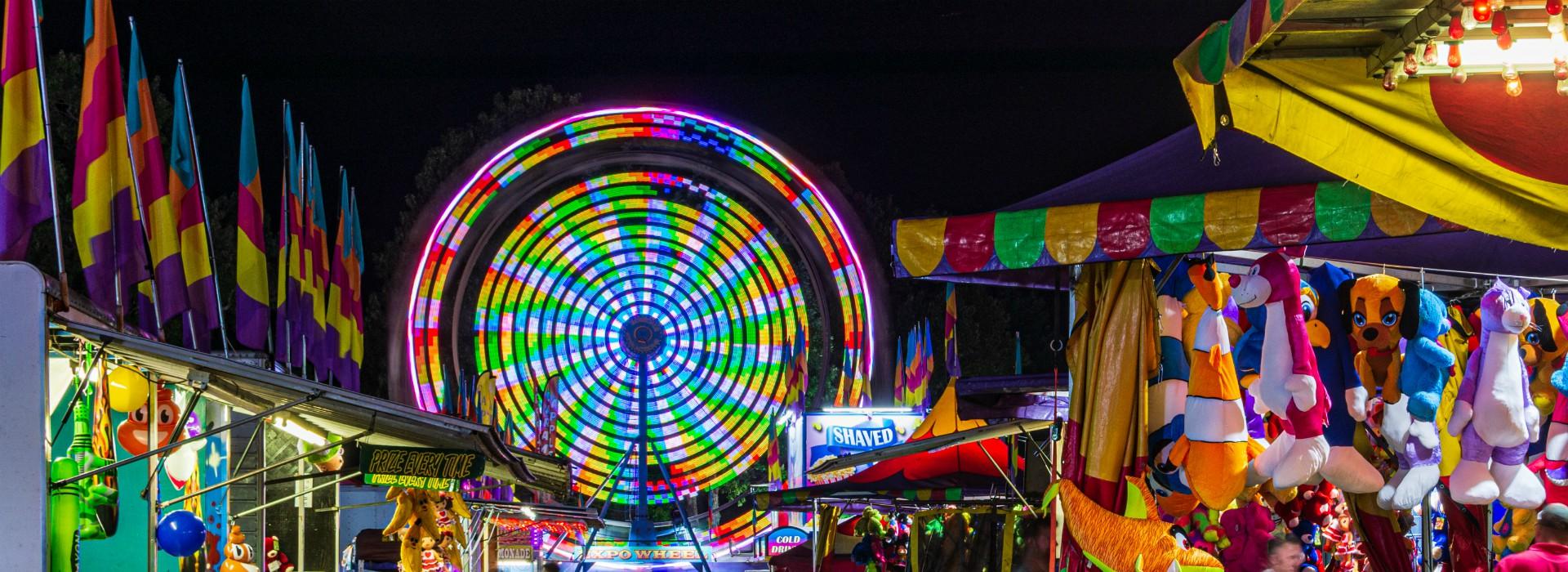 Night Time Ferris Wheel